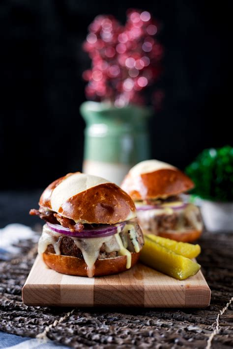 Link Honey Scallion Sliders by Peppered Pork Sliders With Honey Mustard Sauce A Simple