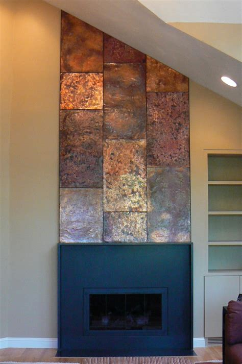 Accessories In Bathroom by Artisan Iron 187 Copper Wall Fireplace Mantle