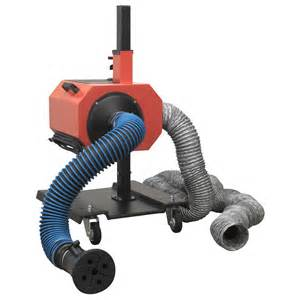 sealey garage workshop car exhaust fume extractor with