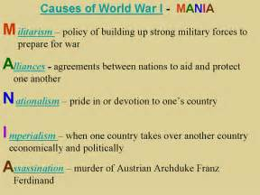 Four Causes Of Ww1 Essay by Journal 57 Causes Of World War I Engagewithease