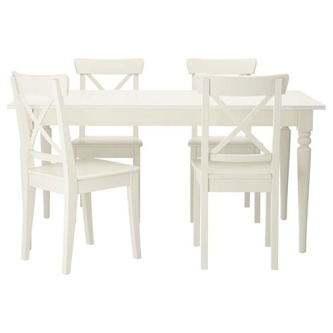 white dining table and chairs white kitchen table ikea roselawnlutheran
