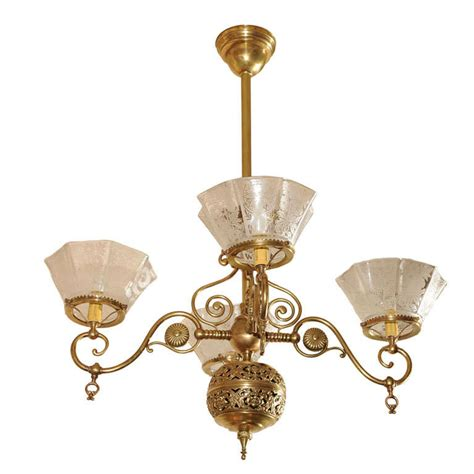 Gas Chandelier Four Arm Gas Chandelier Aesthetic Style At 1stdibs