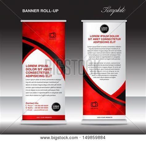pull up banner template roll banner template stand vector en foto bigstock