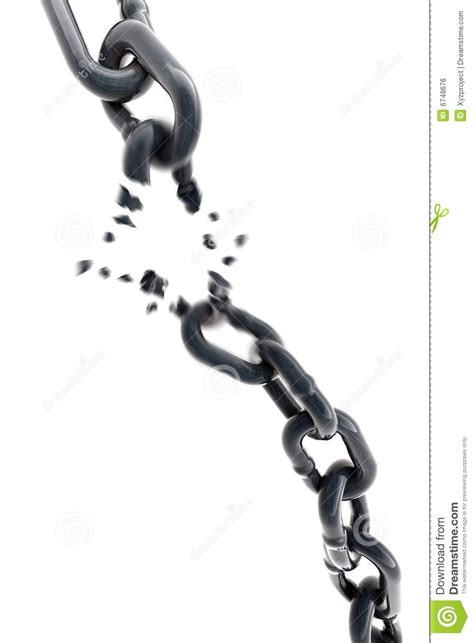 imagenes cristianas cadenas rotas breaking chain 3d royalty free stock image image 6748676