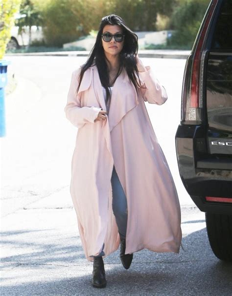 celebrity pink trench coat steal kourtney kardashian s first i pink trench coat