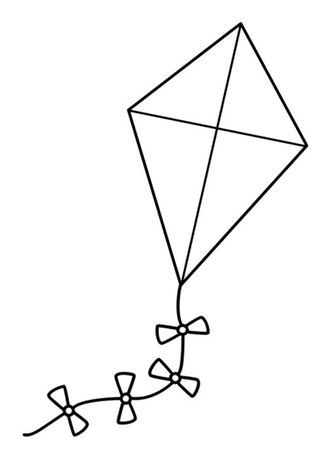 kite coloring pages preschool a large kite coloring pages tareas pinterest kites