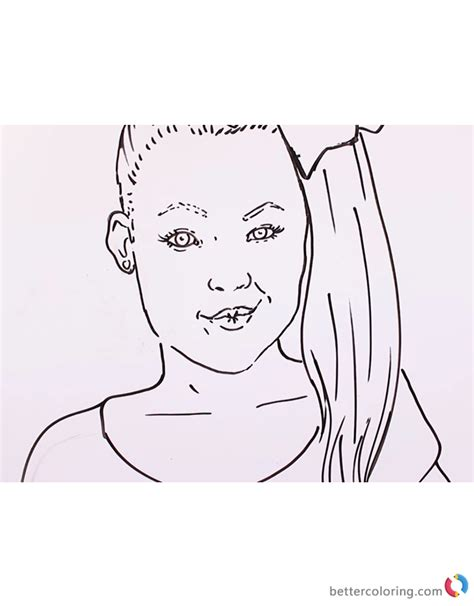 a coloring sheet jojo siwa coloring sheet free printable coloring pages