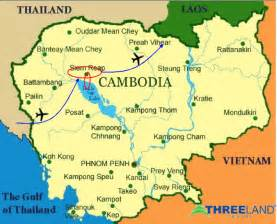World Map Cambodia by Sonlam Travel The World Heritage Angkor