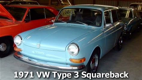 volkswagen squareback 1971 1971 vw type 3 squareback wagon 1600 dual port air