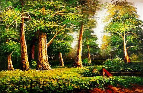 imagenes de paisajes oleo im 225 genes arte pinturas pintura en oleo paisajes bosques