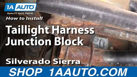 install replace taillight harness junction block