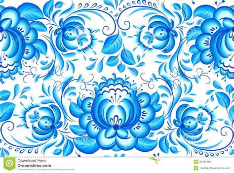 white pattern on blue ornate blue and white floral vector pattern royalty free