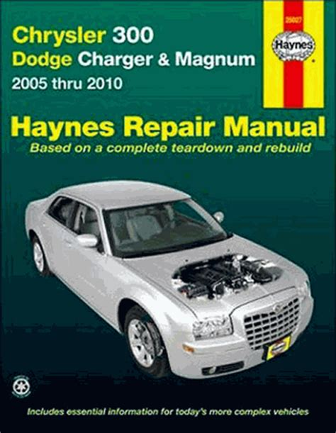 chrysler 300 dodge charger magnum repair manual 2005 2010 haynes