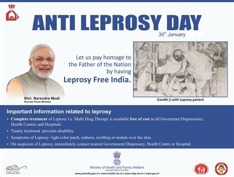 anti leprosy day 2018 martyrdom day of mahatma gandhi