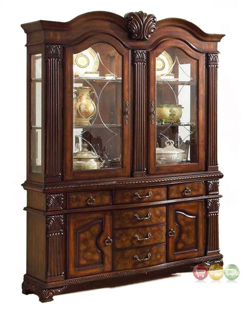 dining room buffet and china cabinet neo renaissance traditional formal dining room china