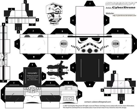 Paper Craft Wars - free paper craft cubee printable freebies