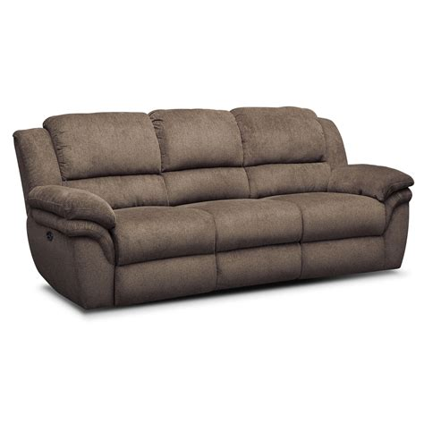 Power Reclining Sofa Set Aldo Power Reclining Sofa Loveseat And Recliner Set Mocha Value City Furniture