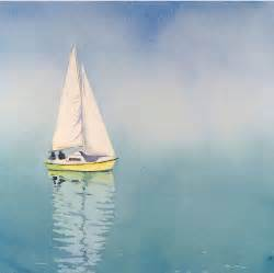 beach art water color paintings of sailboats fine art