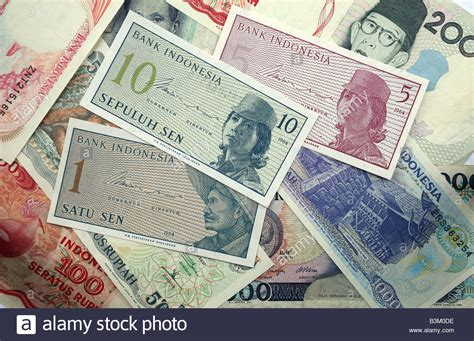 currency converter rupiah rupiah currency bank notes from indonesia stock photo
