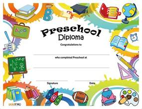 preschool graduation certificates templates preschool diploma gradshop