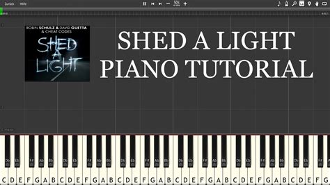 tutorial piano light my fire robin schulz shed a light piano tutorial hd youtube