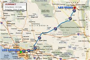 Map To Las Vegas by Las Vegas To Los Angeles Map