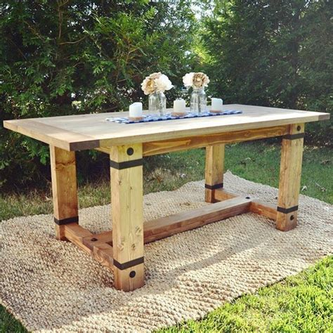 rustic dining table plans rustic industrial farmhouse table modified shanty2chic