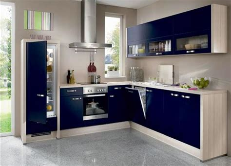 Luxury Blue And White Modular Kitchen Design, Modular