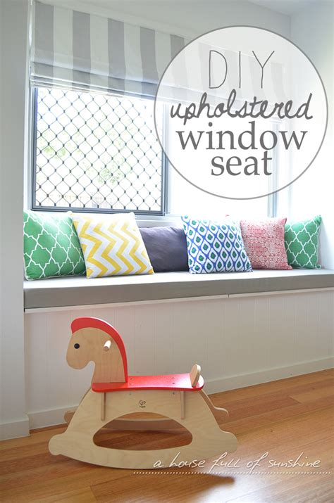 diy window bench cushion diy upholstered window seat a house full of sunshine