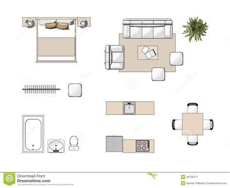 7 X 10 Bathroom Floor Plans by Furniture Top View Stock Illustration Image Of Sofa