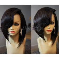 a side part with hair and a swoop and a cross trebella closure bob unit w deep side part typically the