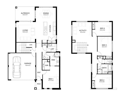 floor floor plan of two storey house 2 storey commercial building floor plan modern house