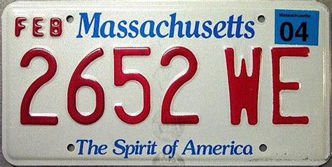 Md Vanity Plates Massachusetts Spirit Of America