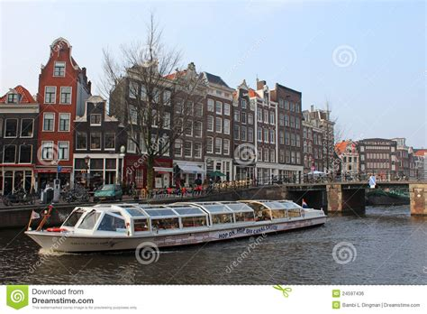 free boats amsterdam amsterdam tour boat editorial photo image 24597436