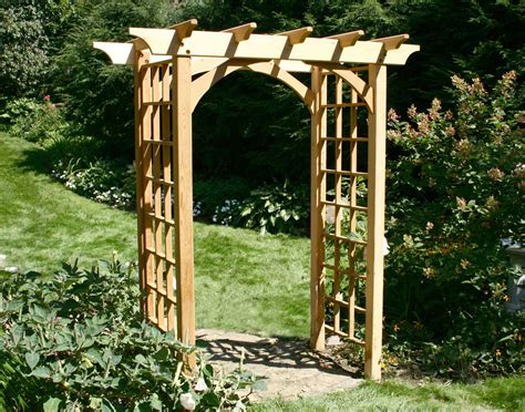 backyard arbor red cedar canterbury arbor