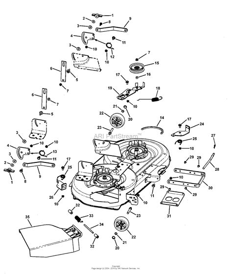 murray parts diagram murray 7800309 clt185420 18 5hp 42 quot gear drive manual