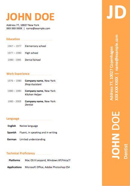 modern word resume templates 89 best yet free resume templates for word colors