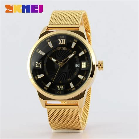 Skmei Formal Stainless Water Resistant Limited skmei 9166 stainless steel band gold mens luxury watches buy mens luxury watches gold