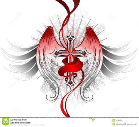 gothic cross angel stock photography image 18961352