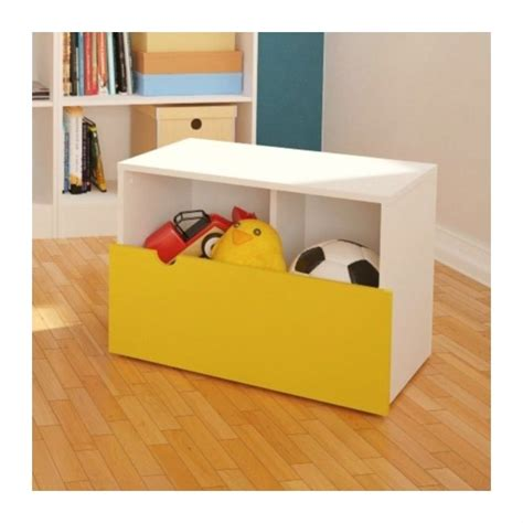 playroom storage bench mobile storage bench in white and yellow 332038