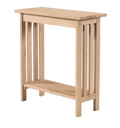 entry accent tables 32 inch mission entry table bare wood fine wood
