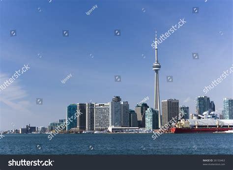 Landscape Toronto Landscape Toronto Skyline Cn Tower Harbourfront Stock