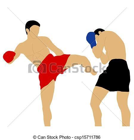 vetor de dois cavaleiros imagens de stock royalty free vetor de dois pugilistas luta alto pontap 233 csp15711786