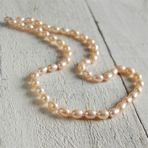 pearl rice rice pearl necklace by highland notonthehighstreet