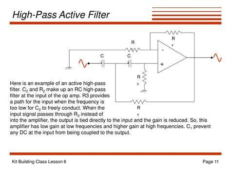 high pass filter active ppt the product detector powerpoint presentation id 252598