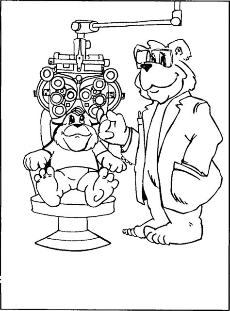 cute doctor coloring page eyes coloring page az coloring pages