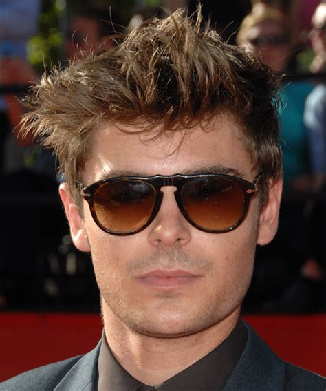 celebrity hairstyles macho zac efron messy hairstyle with