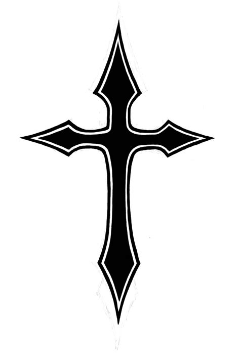 cross tattoo image black cross clipart best clipart best regular