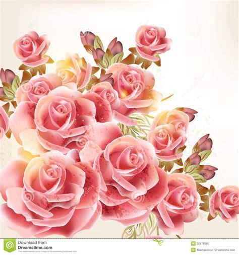 imagenes de flores libres fondo hermoso del vector en estilo del vintage con las