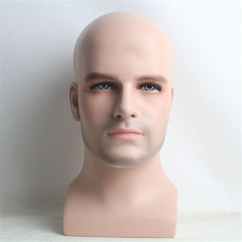 realistic mannequin heads realistic fiberglass male mannequin head for wig and